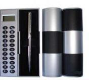 Estojo 360º com calculadora e mini caneta preto